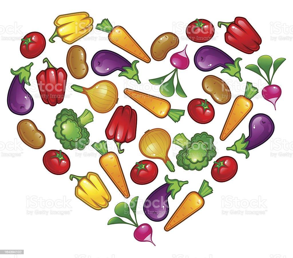 Healthy vegetable heart royalty-free stock vector art