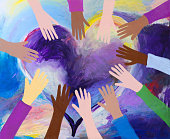 istock Heart and hands painting 1252584401