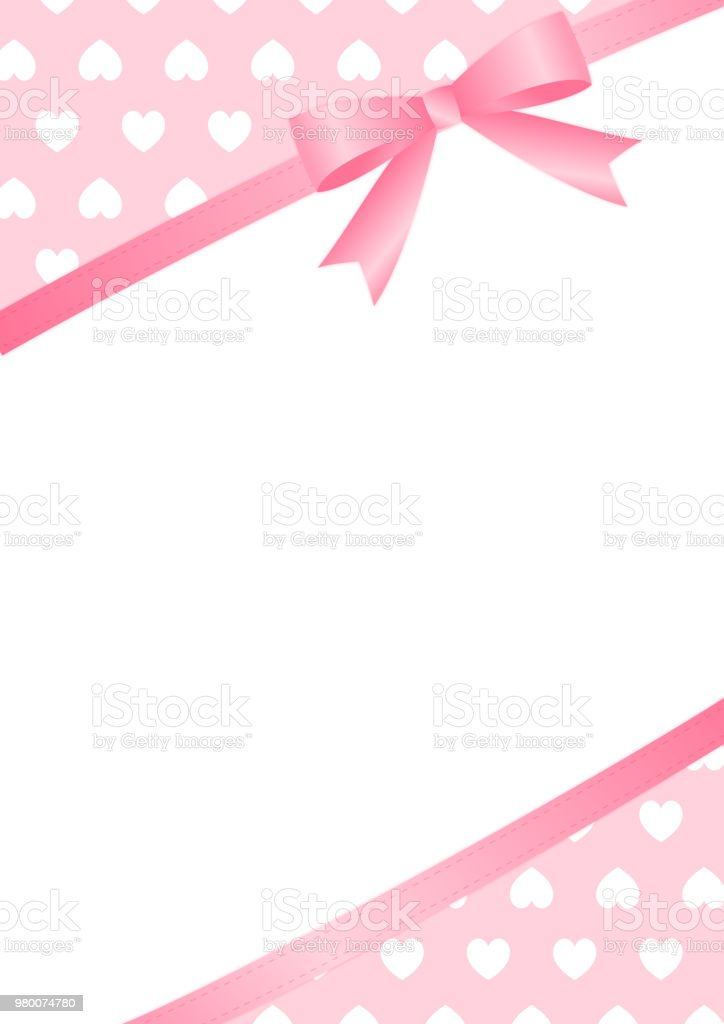 Heart and ribbon copy space (Longitudinal direction) royalty-free heart and ribbon copy space stock vector art & more images of backgrounds