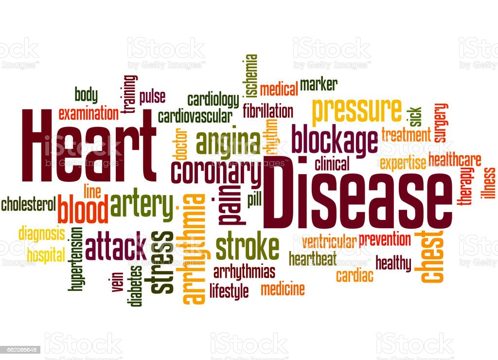 Heart Disease, word cloud concept 3 royalty-free heart disease word cloud concept 3 stock vector art & more images of artery