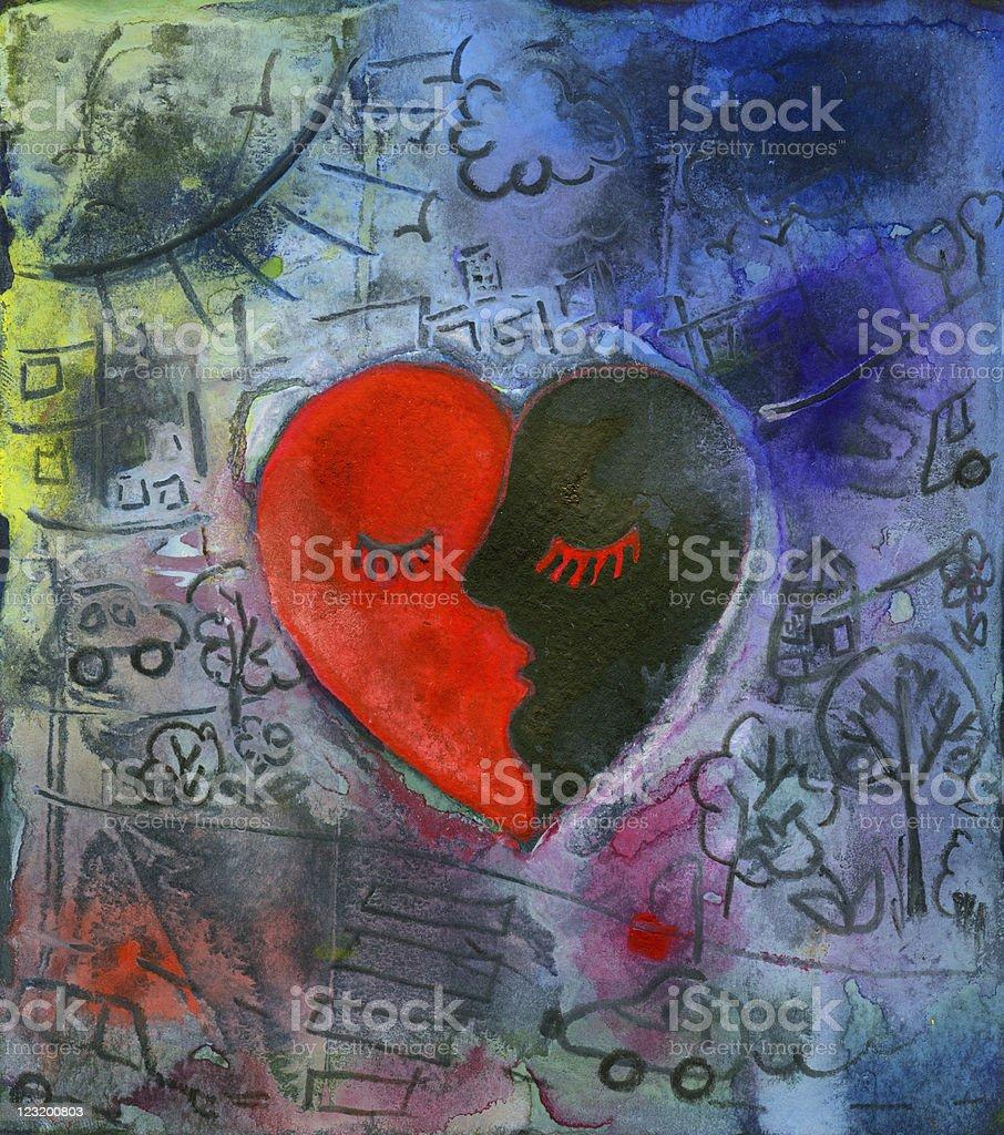 heart graffiti royalty-free stock vector art