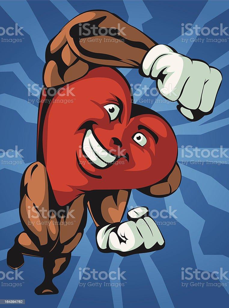 Heart Health Hero royalty-free stock vector art