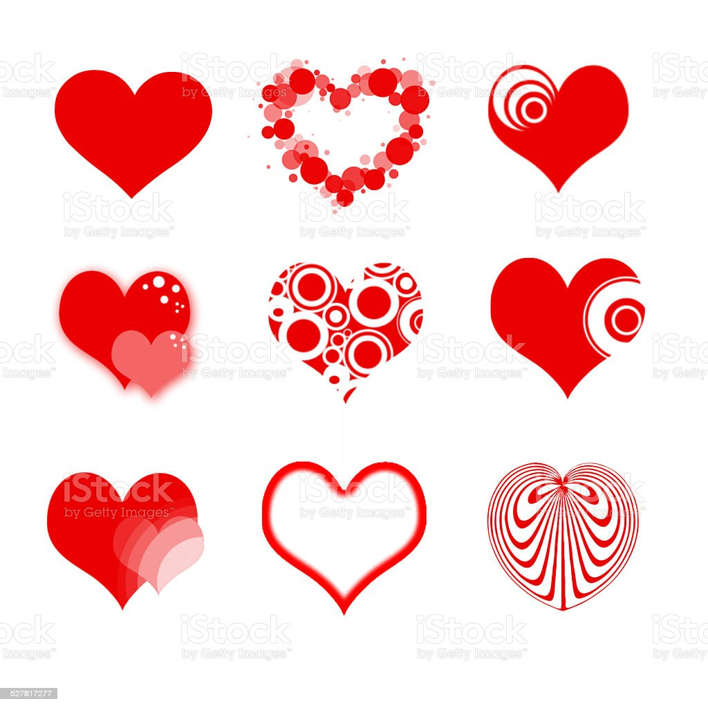 Heart Icons Symbols Stock Vector Art More Images Of Adult