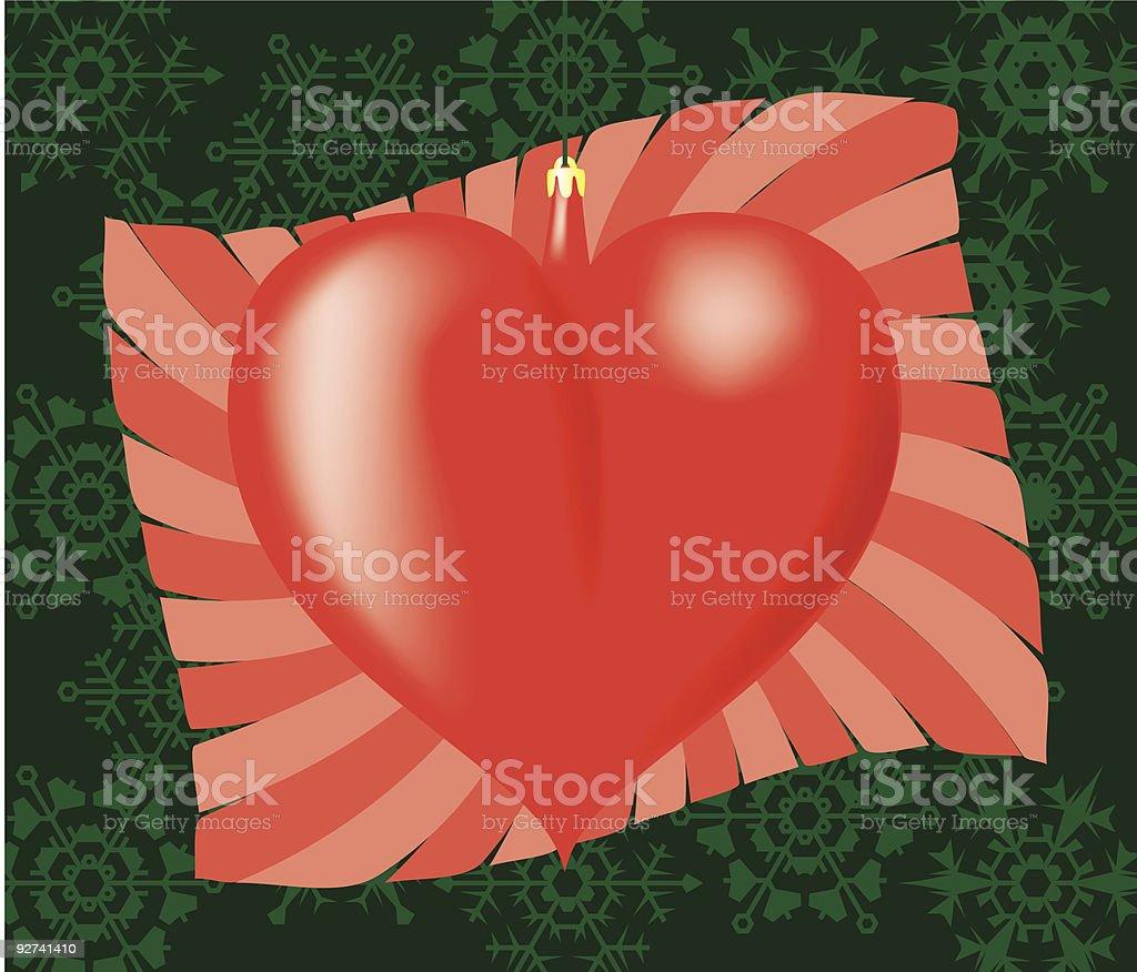 Herz packen. Lizenzfreies herz packen stock vektor art und mehr bilder von christbaumkugel