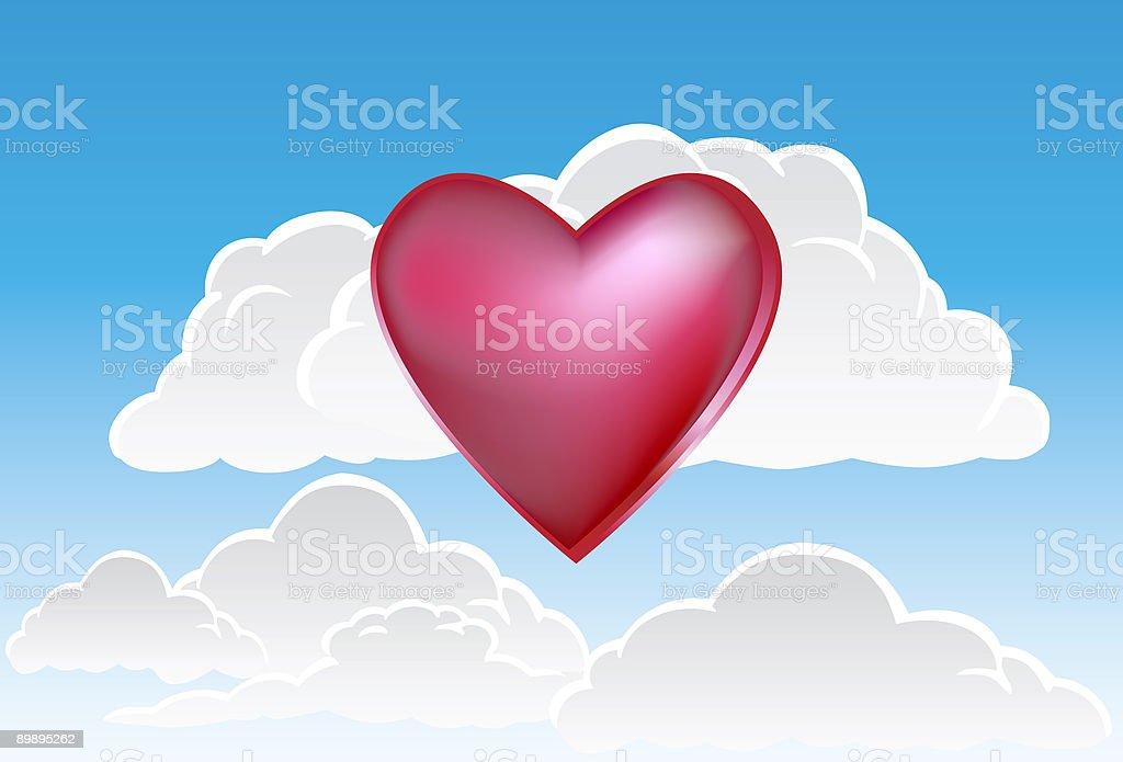 Corazón en las nubes ilustración de corazón en las nubes y más banco de imágenes de amor libre de derechos