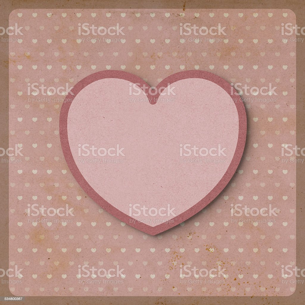 Heart love on retro background made from recycled paper craft heart love on retro background made from recycled paper craft royalty free stock vector art jeuxipadfo Images