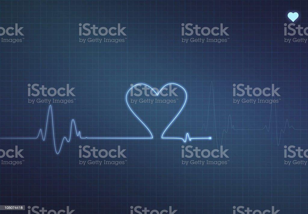 Heart Monitor royalty-free stock vector art