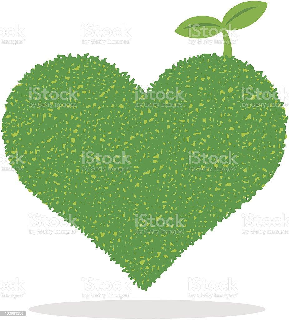 Heart of Green royalty-free stock vector art