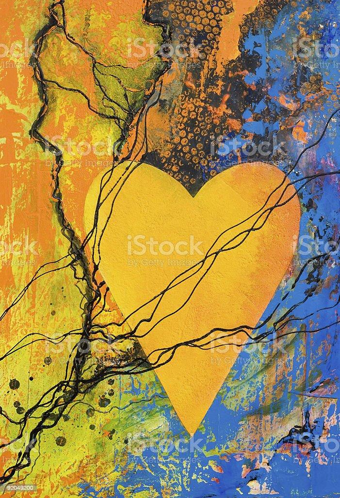 heart painting royalty-free stock vector art