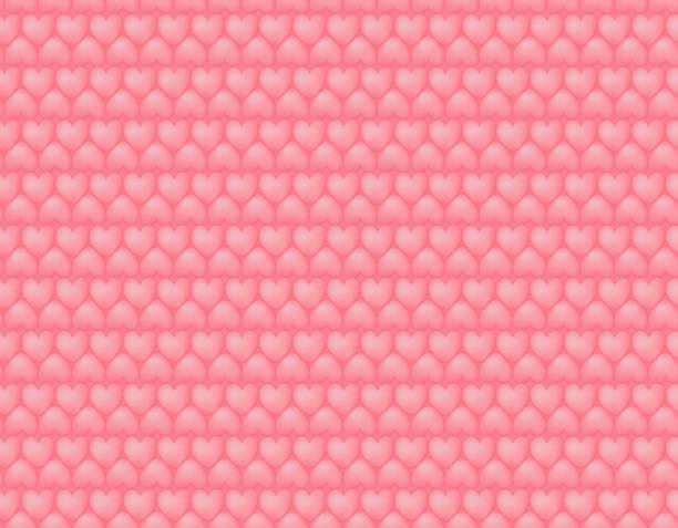 Heart quilting seamless pattern vector art illustration