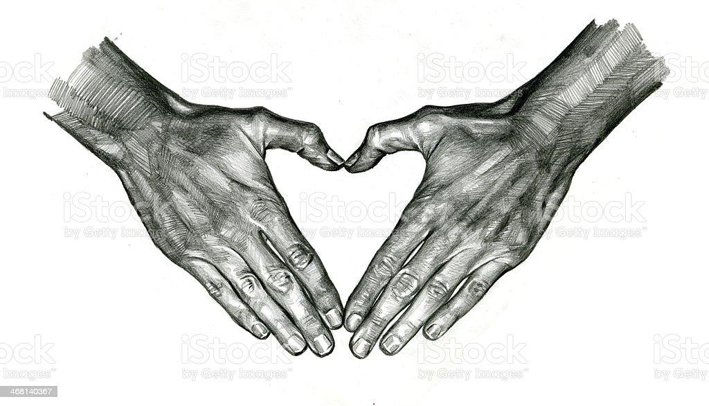 Heart shape 3 royalty-free stock vector art