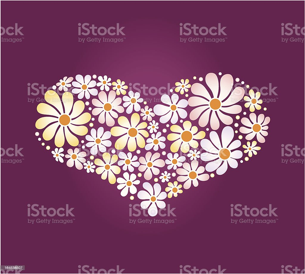 heart shape filled with flowers pattern royalty-free heart shape filled with flowers pattern stock vector art & more images of blossom