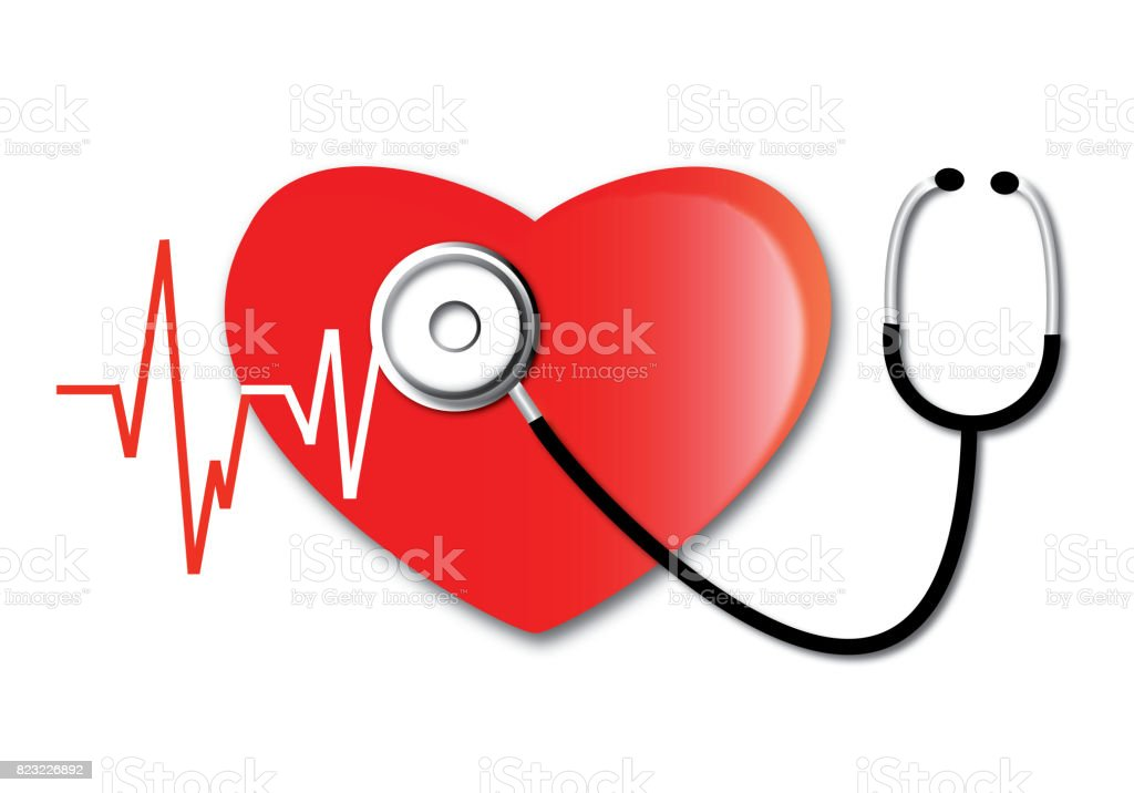 Heartbeat Line Art : Heartbeat line heart cardio stock vector art more images of