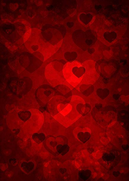 hearts on grunge background vector art illustration