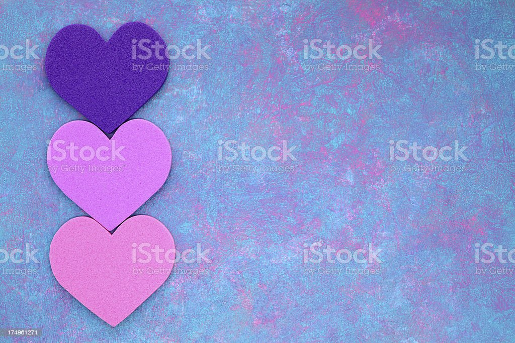 Hearts on Painted Background royalty-free stock vector art