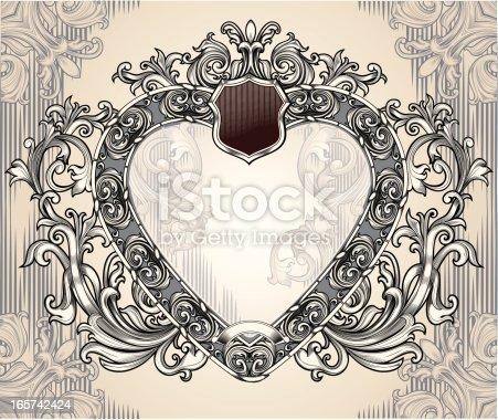 istock Heart-shaped frame 165742424