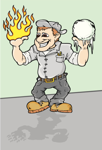 Heating And Air Conditioning Technician Stock Illustration - Download Image Now