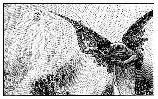 illustrazioni stock, clip art, cartoni animati e icone di tendenza di heaven - malvagità