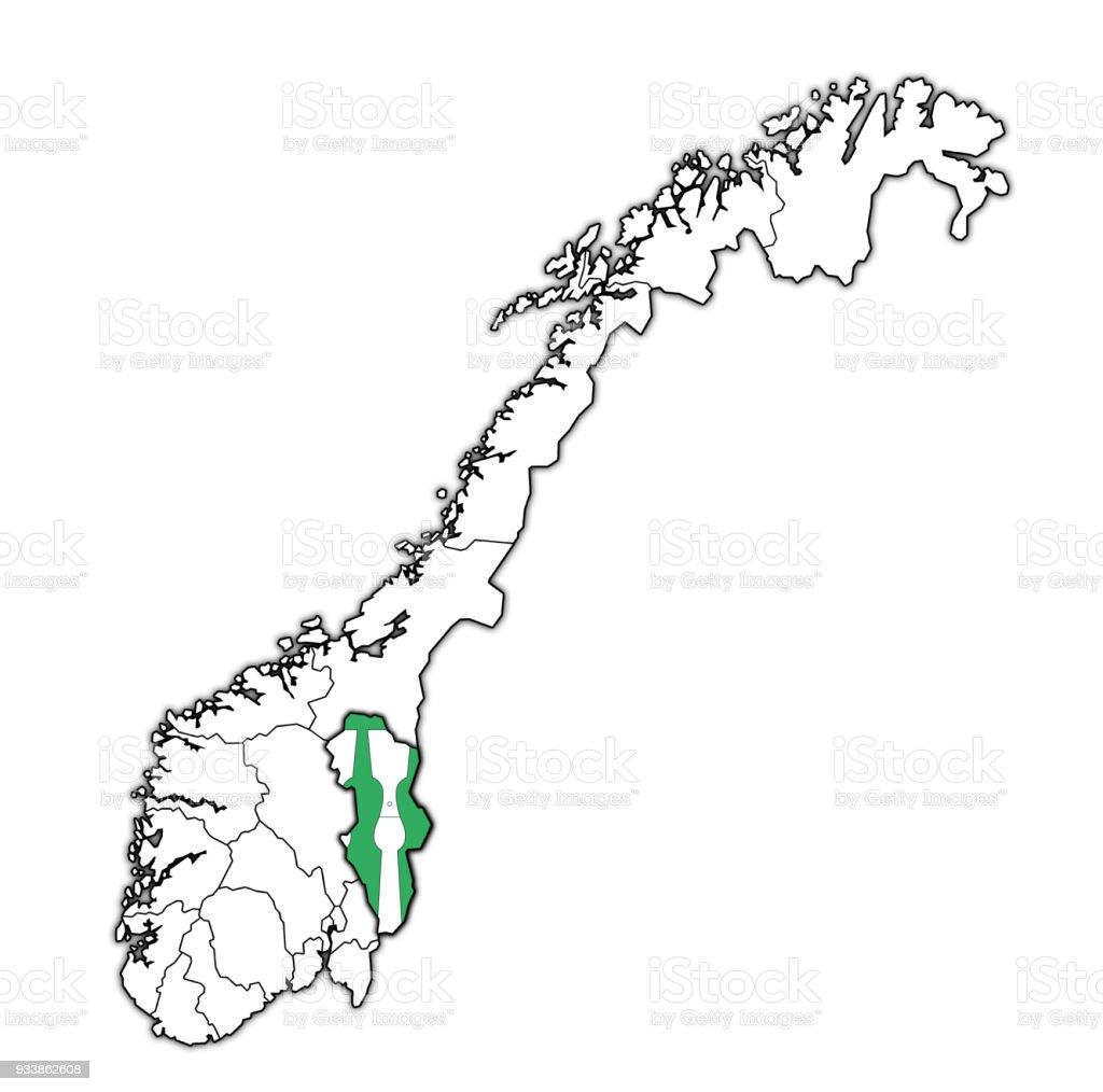 Hedmark Norwegen Karte