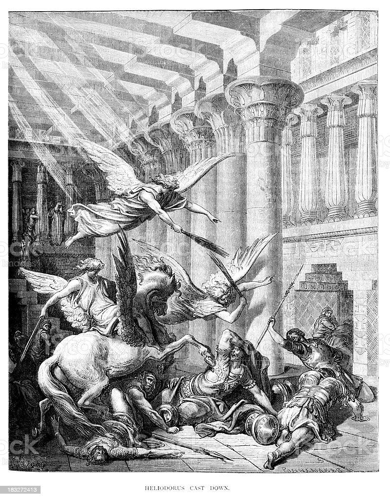Heliodorus cast down royalty-free stock vector art