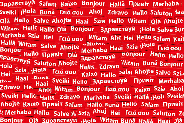 Hola en diferentes idiomas. - ilustración de arte vectorial
