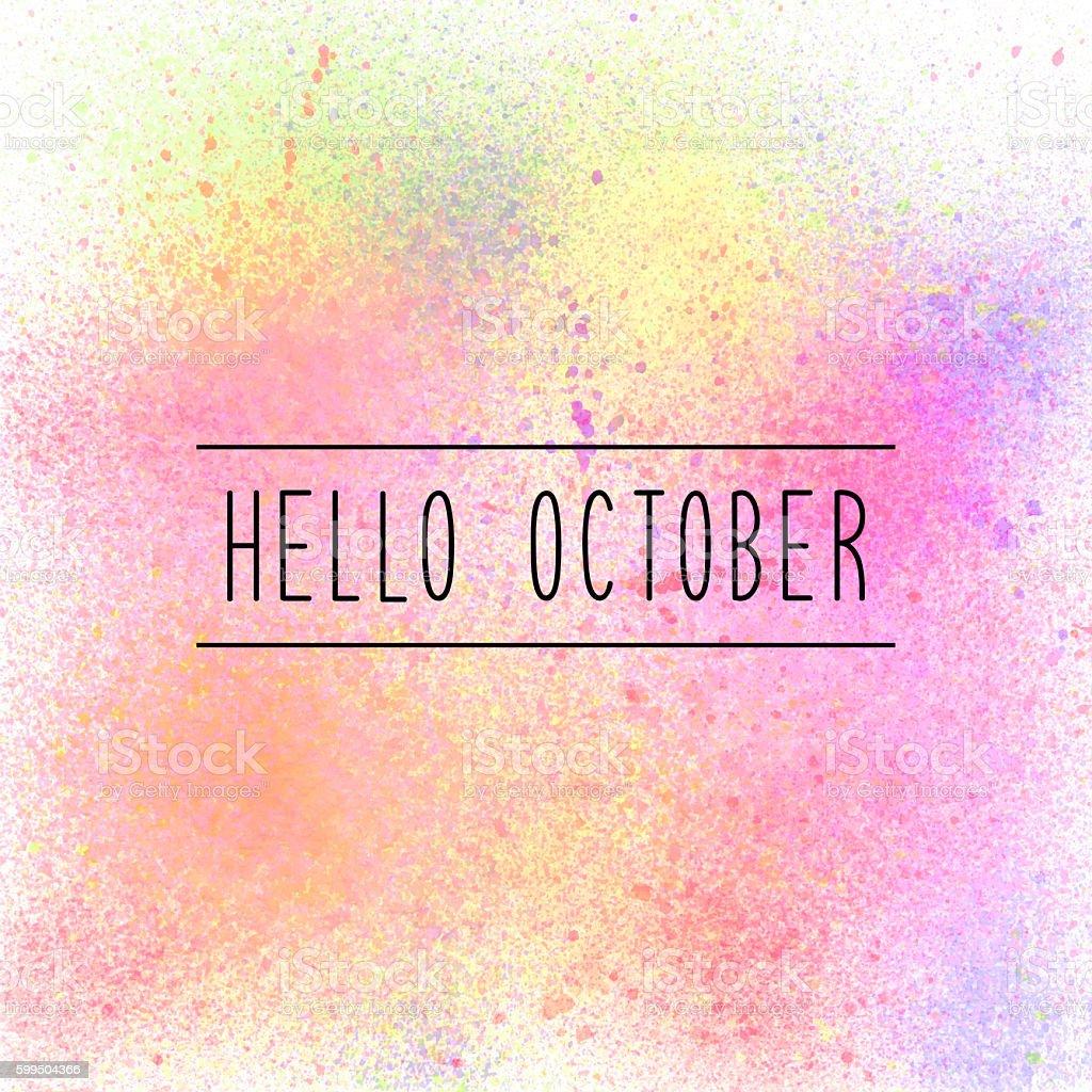 Hello October Typographic Design. Stock Vector - Image: 35512928