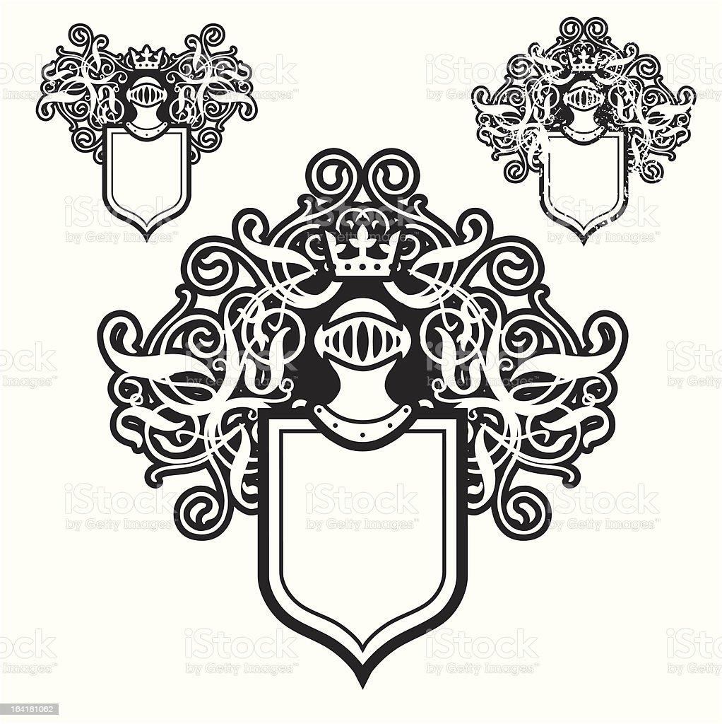 Helmet and Shield royalty-free stock vector art