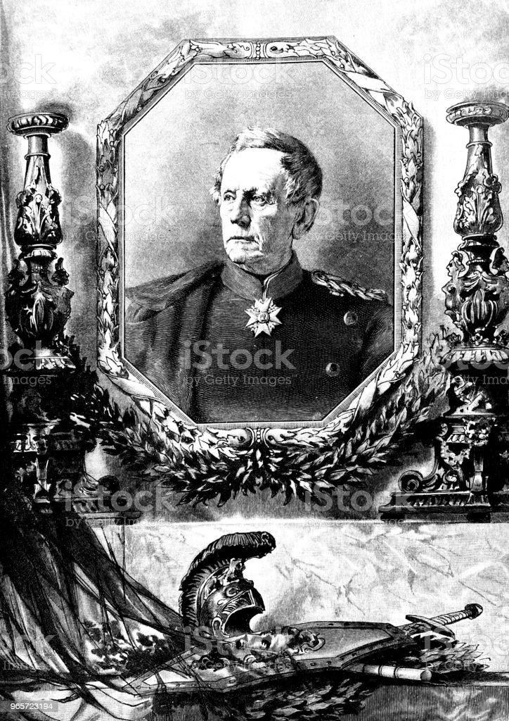 Helmuth Karl Bernhard von Moltke, 1800-1891 - Royalty-free 1890-1899 stock illustration