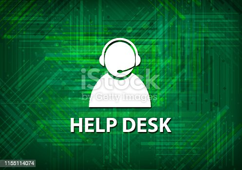 Help desk (customer care icon) isolated on green background abstract illustration