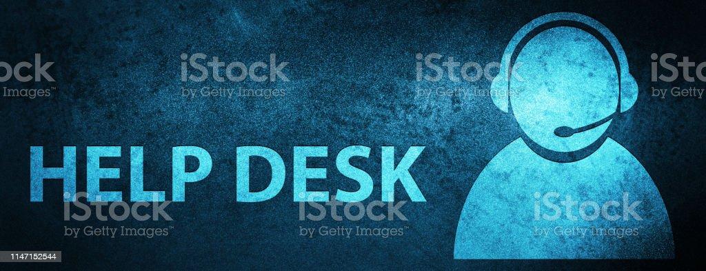 Help Desk Special Blue Banner Background Stock Illustration Download Image Now Istock