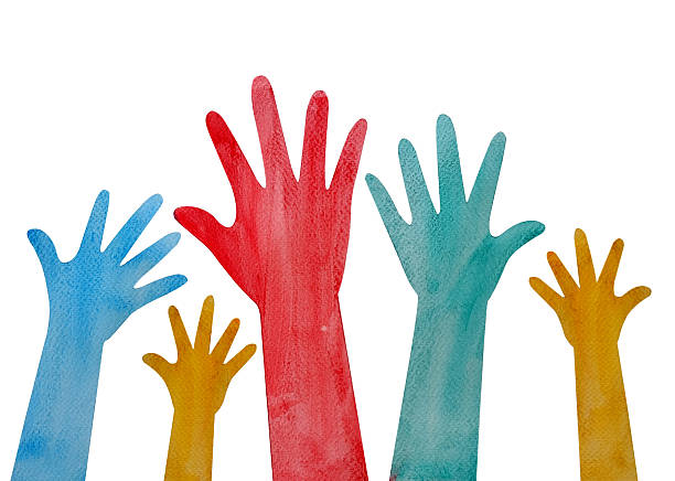Drawing Of The Hands Reaching Out To Each Other Clip Art ...