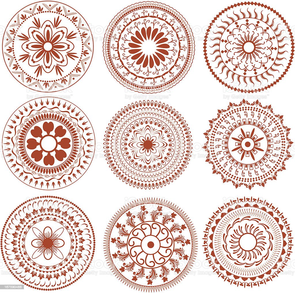 Circle Design Art : Henna circle design stock vector art more images of
