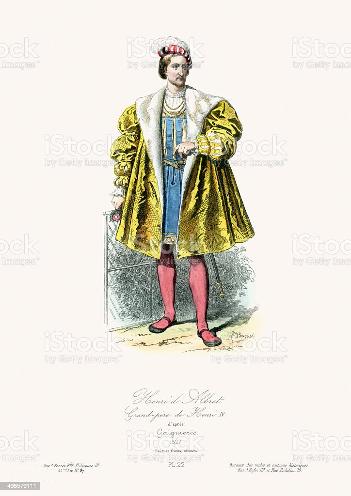 Henri d'Albret royalty-free stock vector art