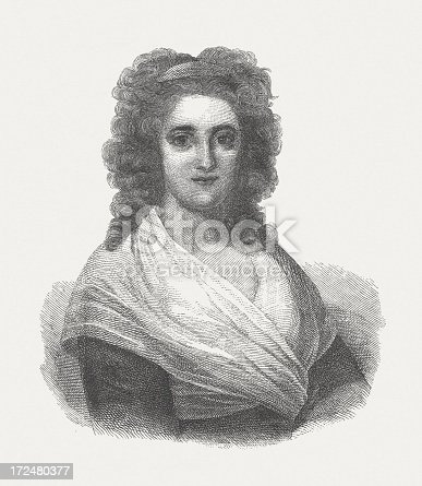 istock Henriette Herz (1764-1847), German writer, wood engraving, published in 1882 172480377