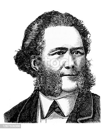 Henrik Ibsen, as a Norwegian playwright and theatre director in the old book Encyclopedic dictionary by A. Granat, vol. 3, S. Petersburg, 1896
