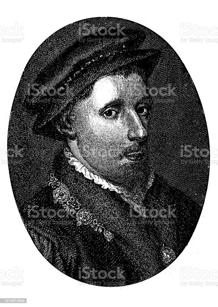 Henry Howard, Earl of Surrey vector art illustration