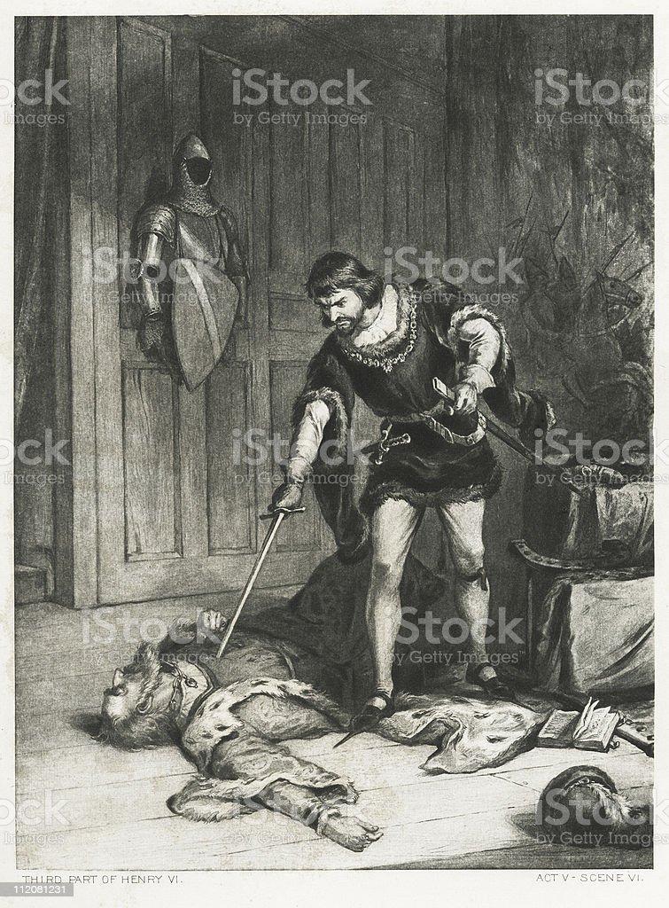 Henry VI royalty-free stock vector art