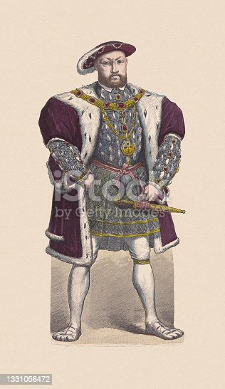 istock Henry VIII of England (1491-1547), hand-colored wood engraving, published c.1880 1331056472