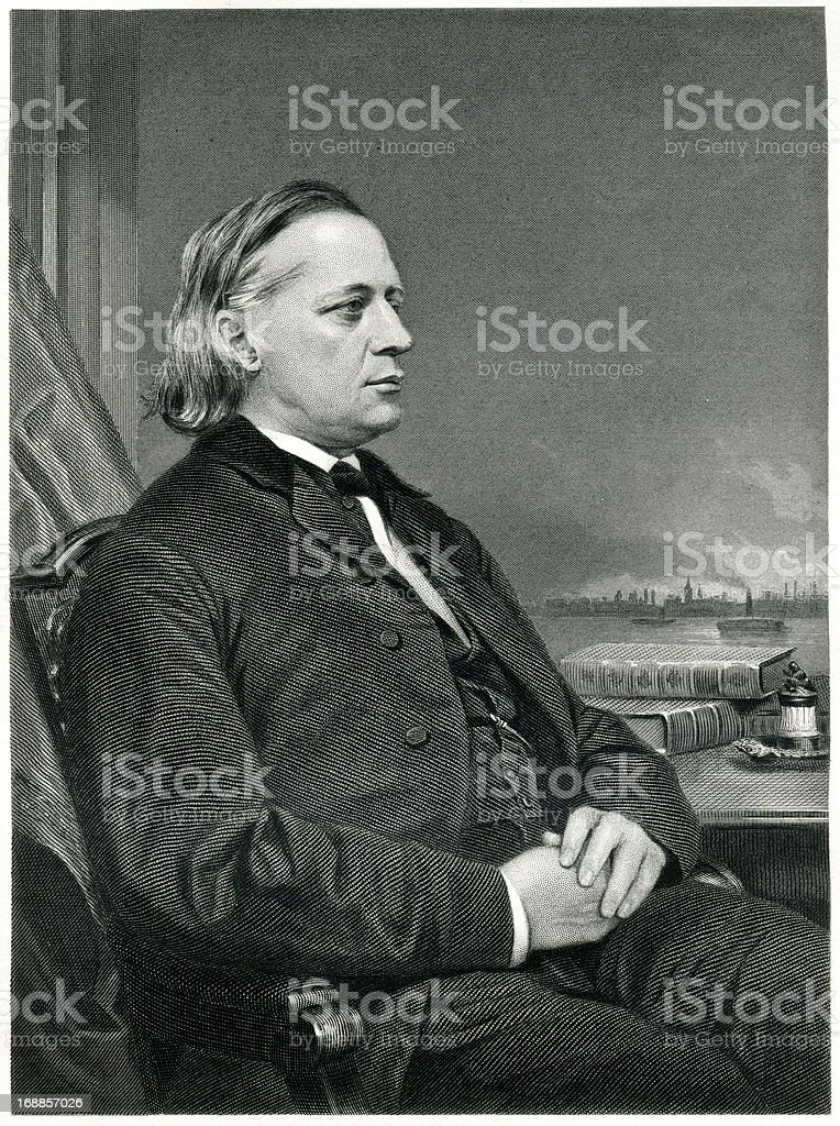 Henry Ward Beecher royalty-free henry ward beecher stock vector art & more images of 1873