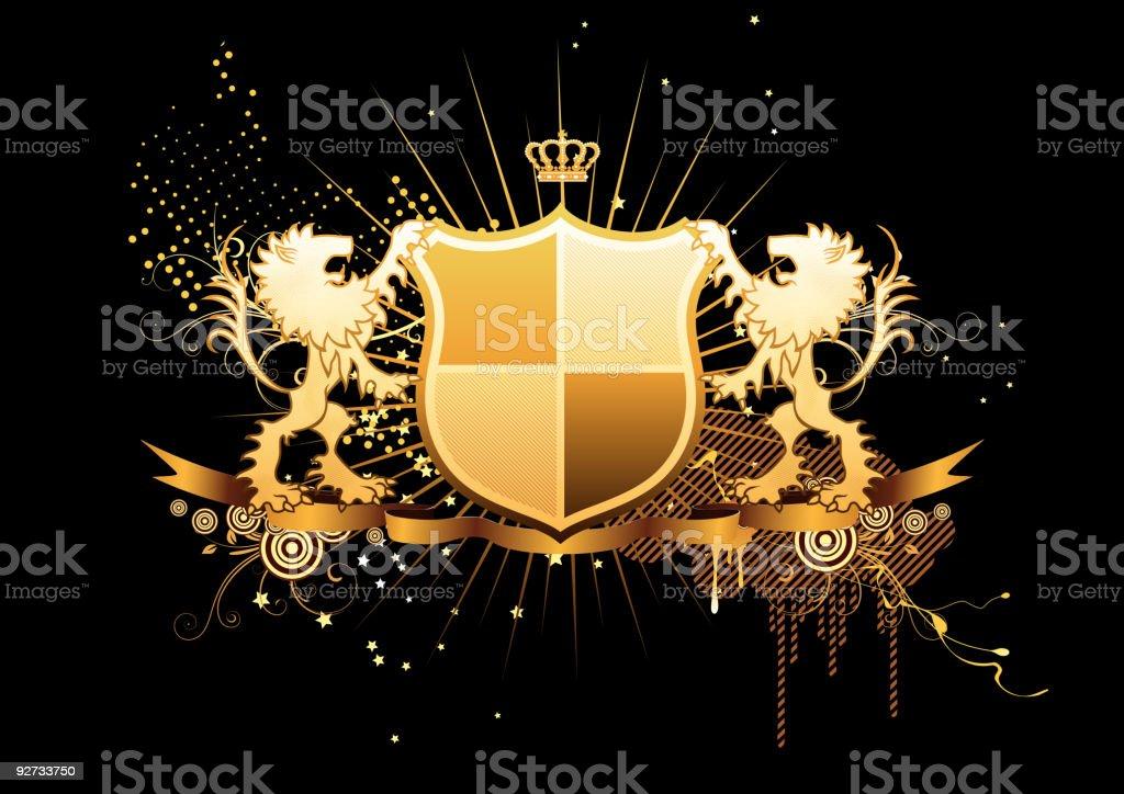 heraldic shield Lizenzfreies heraldic shield stock vektor art und mehr bilder von abstrakt