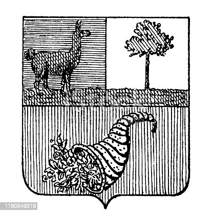 Illustration of a Heraldry, coat of arms San Salvador