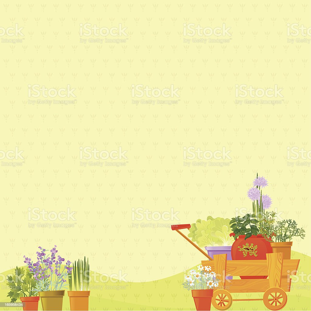 Herb Background vector art illustration