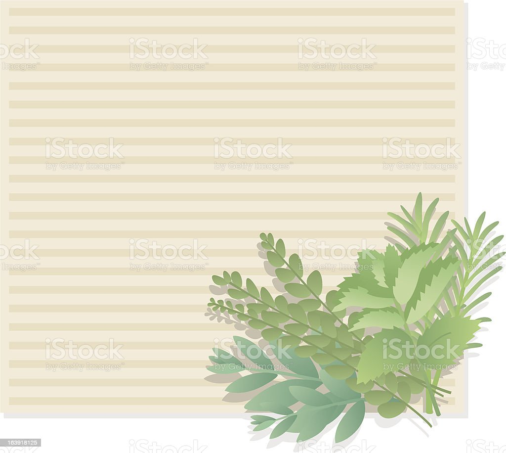 herbage for cooking (Background). royalty-free stock vector art