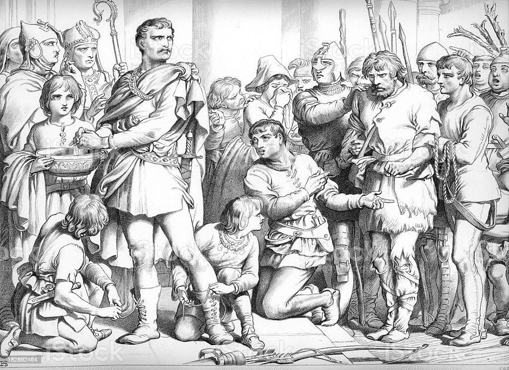 Hereward the Wake royalty-free hereward the wake stock vector art & more images of anglo-saxon