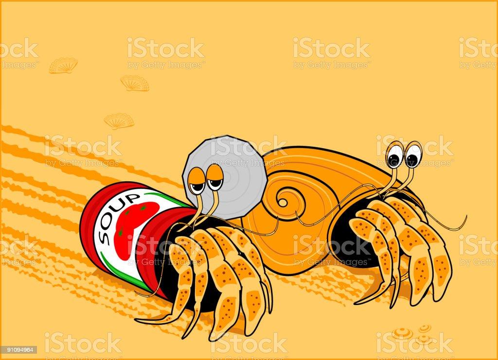 Hermit crabs royalty-free stock vector art