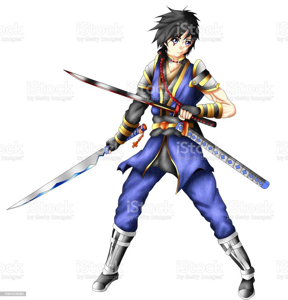 Anime Schwertkämpfer