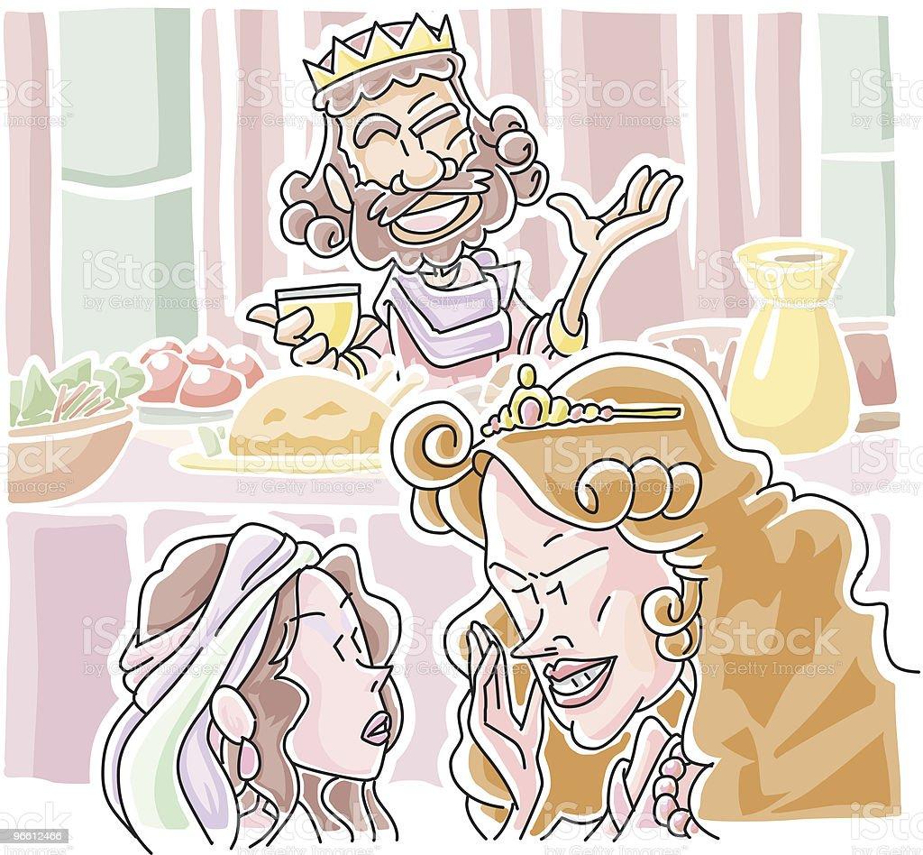 Herodias richiesto John's head - arte vettoriale royalty-free di Adulto