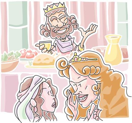 Herodias Requested Johns Head Stockvectorkunst en meer beelden van Banket