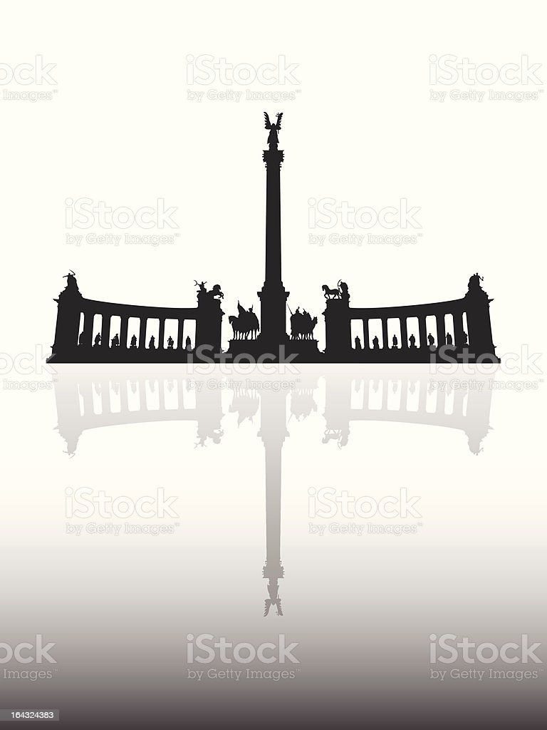 Heroes' Square vector art illustration