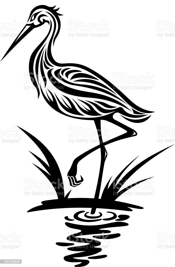 Airone uccello - illustrazione arte vettoriale